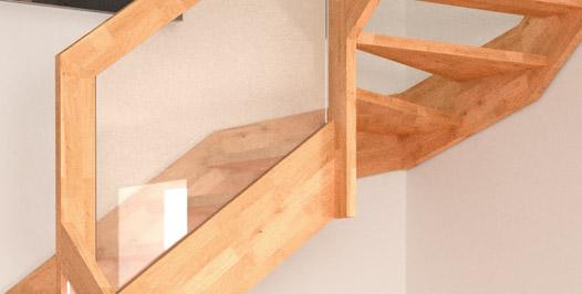 Escalera de madera brick rintal for Escalera de electricista