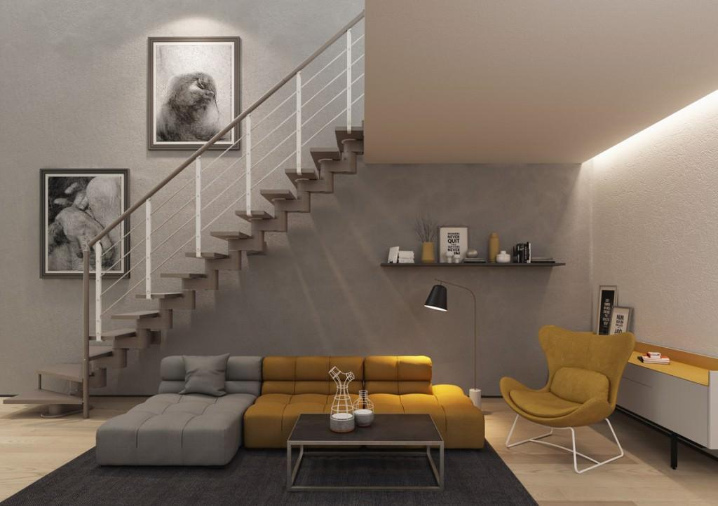 Escalera de madera autoportante escaleras interiores for Escaleras rintal