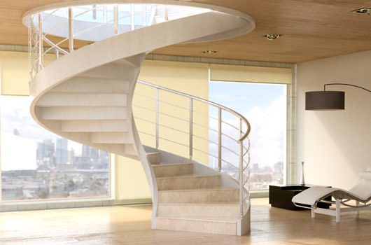 Creativo de escalera concreto for Escaleras rintal
