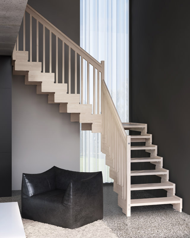 Escalera de madera rintal trasforma design for Escaleras rintal