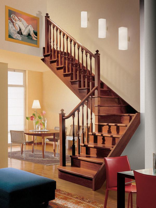 Escalera para interiores de madera rintal gara - Come arredare una scala interna ...