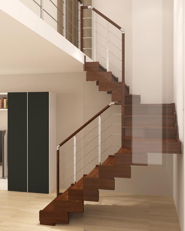Escalera de madera rintal trasforma design for Escaleras infinitas