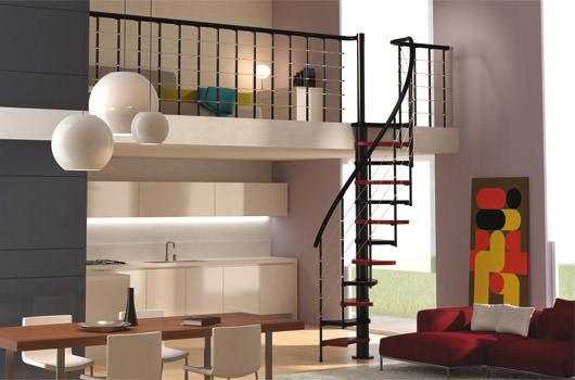descubrir las escaleras para espacios reducidos