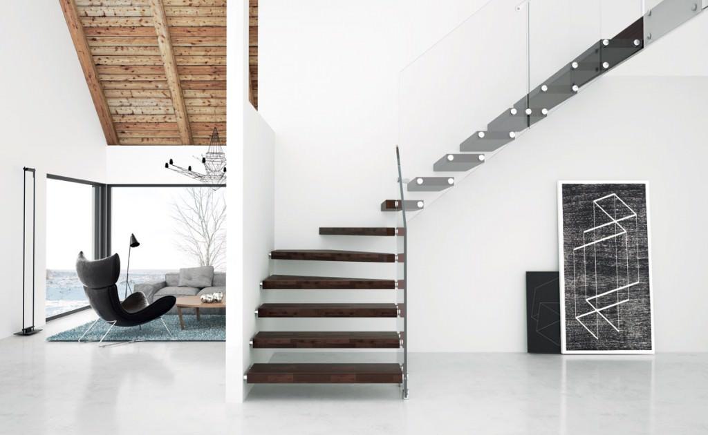 Escalera con voladizo escaleras interiores rintal aira for Escaleras rintal