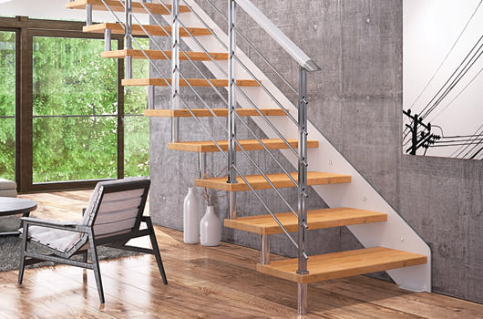 escaleras de tramos